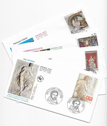 "Enveloppes  1er Jour FDC .1999  4 Enveloppes ""Goujon,Richard Coeur De Lyon, Cathédrale DAuch,Patrimoine Du Liban"" - 1990-1999"