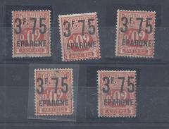 FR - 1919 - SOCIAUX POSTAUX - EPARGNE - N° 25 Oblitéré X 5 - B/TB -