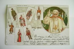 1903    S S Leon 13- Costumes Du Vatican  PONT. MAX POPE  CARTOLINA CROMO  FORMATO PICCOLO SCRITTA - Papi