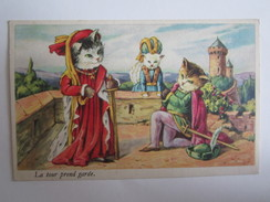 Animaux Chat Chats La Tour Prend Garde - Katten