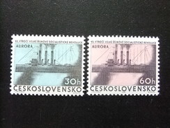 CHECOSLOVAQUIA TCHÉCOSLOVAQUIE 1962 45 º Anniversaire De La Révolution Russe Yvert 1240 /1241 ** MNH