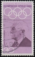 GERMANY - Scott #986 Mexico City '68 Olympic Games,  Pierre De Coubertin (*) / Used Stamp