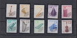 1992-PREO N°213a/223a** INSTRUMENTS DE MUSIQUE.DENTELES 12.LA SERIE SIGNEE CALVES - Precancels