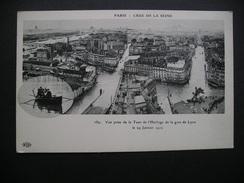 Paris-Crue De La Seine Vue Prise De La Tour De L'Horloge De La Gare De Lyon Le 29 Janvier 1910