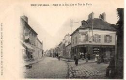 78 ROSNY-sur-SEINE Place De La Fontaine Et Rue De Paris - Rosny Sur Seine