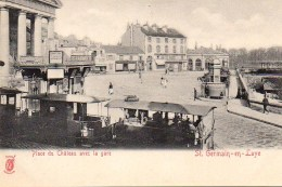 78 SAINT-GERMAIN-en-LAYE   Place Du Château Avec La Gare Avec Tramway - St. Germain En Laye