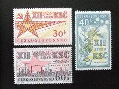 CHECOSLOVAQUIA TCHÉCOSLOVAQUIE 1962 Congrès Du  Parti Communiste Yvert 1242 /1244 ** MNH