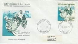 Albert Schwezer. Fdc.  Mali   Cover Sent To Germany.   H-940