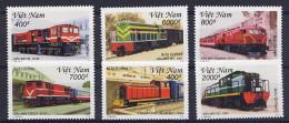VIETNAM VIET-NAM 2001, LOCOMOTIVES DIESEL,  6 Valeurs, Neufs / Mint. R285