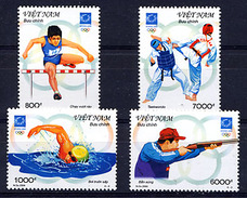 VIETNAM VIET-NAM 2004, J.O. ATHENES, 4 Valeurs, Neufs / Mint. R292