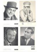 Set Von 16 Blätter Deutscher Sänger Mit Zurück Diskographie (Mi9) - Plakate & Poster