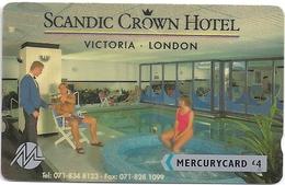 UK - Mercury - Scandic Hotel (071 834 8123) - 20MERD - MER108A - 5.409ex, Used - United Kingdom
