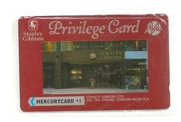 UK - Mercury - Stanley Gibbons Privilege Card - 20MERB (On Silver Stripe) - MER209 - 7.202ex, NSB - [ 4] Mercury Communications & Paytelco