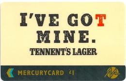 UK - Mercury - Tennent's Lager - 20MERB - MER319 - 23.000ex, Used - United Kingdom