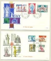 België - 1958 - Folklore II Op 2 FDC's
