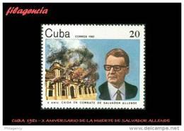 CUBA MINT. 1983-15 X ANIVERSARIO DE LA MUERTE DE SALVADOR ALLENDE - Cuba