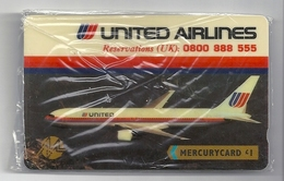 UK - Mercury - United Airlines Aircraft - MER331 (1£) 7.000ex, NSB - United Kingdom