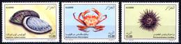 ALGERIA 2013 - 3 TP MNH** Coquillages Sea Fauna Haliotis Shell Shells Crabe Crab Oursin - Urchin Schaltier Mariscos