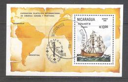 Nicaragua 1981-Fragata-Espamer 81 En Buenos Aires Argentina-HB Usada