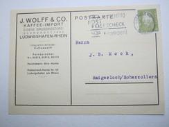 1932 , Ludwigshafen , , Klarer Stempel Auf Firmenkarte