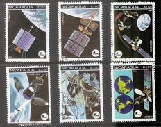 Nicaragua 1981-Espacio-Satélite Intelsat-6 Sellos Usados