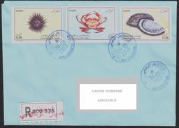 ALGERIA 2013 - Registerd Cover Marine Sea Fauna Haliotis Shell Shells Crabe Crab Oursin Urchin Coquillages