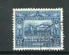 ERYTHREE- Colonie Italienne- Y&T N°40- Oblitéré - Eritrea