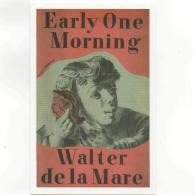 Postcard - Faber - Early One Morning 1935 By Walter De La Mare New - Cartes Postales