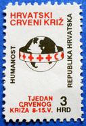 CROATIA CHARITY MNH STAMP 3 HRD 1992 RED CROSS HUMANITY - Croatie