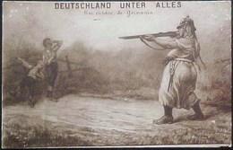 Cpa WW1 ANTI ALLEMAGNE , UNE VICTOIRE DE GERMANIA Femme Soldat Tuant Deux Enfants, PROPAGANDA ANTI GERMANY WWI - Patriotiques