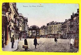 * Namur - Namen (La Wallonie) * La Place D'armes, Kiosk, Kiosque, Animée, Tramway, Unique, Couleur, Rare