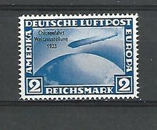1933   N° 42 B GRAF ZEPPELIN CHICAGO 1933 NEUF** GOMME REIMPRESSION PRIVEE - Luftpost