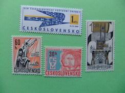 CHECOSLOVAQUIA TCHÉCOSLOVAQUIE 1965 Lote Yvert 1535 + 1537 + 1538 + 1576 ** MNH