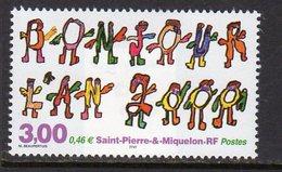 St Pierre & Miquelon SPM 2000 New Year, MNH (A) - St.Pierre & Miquelon