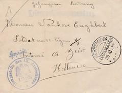 "Brief Van Herrenwyk Via Censuur Lubeck ""Geprüft Prüfungsstelle IX Armeekorps"" Naar Geïnterneerde In Zeist Nederland."