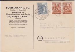 Bizone Zehnfachfrankatur Div Kte Altenvoerde ü Milspe 1948