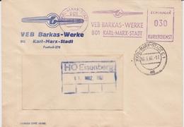DDR Dienst B ZKD Freistempel Bf LKW Karl-Marx-Stadt Sachsen 1966