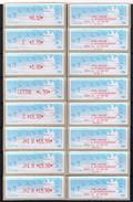 8 ATMs, Reçus FDC, LISA1,OISEAUX DE JUBERT, 0.10/3.00/ E 2.70/ LETTRE 4.50/C 13.50/J+1 D 13.50/J+2 R 19.50/ J+2 N 19.50. - 1990 Type «Oiseaux De Jubert»