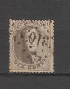 COB 14B Oblitéré Pt 310 Renaix Catalogue COBA 2016 +6 Quelques Rousseurs - 1863-1864 Medallones (13/16)
