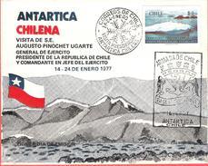 CHILI - Territoire Antarctique - Base Arturo Prat - Visite Du Président Pinochet 1977 - Timbres