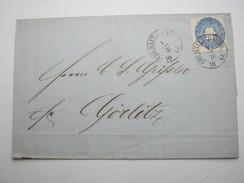 CHEMNITZ BAHNHOF ,  Klarer Stempel Auf Brief  1864