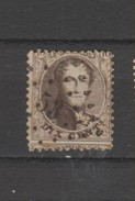 COB 14 Oblitéré Pt 53 Braine-Le-Comte Catalogue COBA 2016 +8 - 1863-1864 Medallones (13/16)