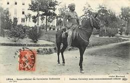 Guerre 1914-18 -ref L435- Armée Indienne - Indes - India -hindous -sikhs - Sous Officier De La Cavalerie Indienne  - - Guerre 1914-18