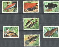 A45 NICARAGUA FISH SET MNH