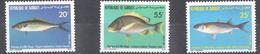 A47 1986 DE DJIBOUTI FISH SET MNH
