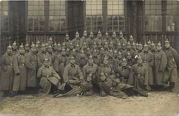 Guerre 1914-18 -ref L429- Carte Photo Militaires -militaria -allemands - Allemagne - Carte Photo Bon Etat  - - Non Classificati