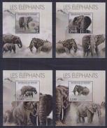V31 Burundi - MNH - Animals - Elephants - Deluxe - 2012