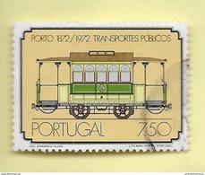 TIMBRES - STAMPS - PORTUGAL - 1973 - CENTENAIRE DES TRANSPORTS PUBLICS DU PORTO -TIMBRE OBLITÉRÉ CLÔTURE DE SÉRIE