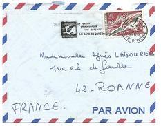 COTE D'IVOIRE LETTRE DE ABIDJAN POUR LA FRANCE DU 24/2/1966