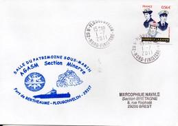 Marcophilie Navale - Enveloppe - AGASM Section Minerve - Fort De Bertheaume-Plougonvelin - Bateaux